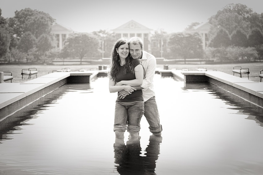 Engagement Photos at the University of Maryland, in College Park