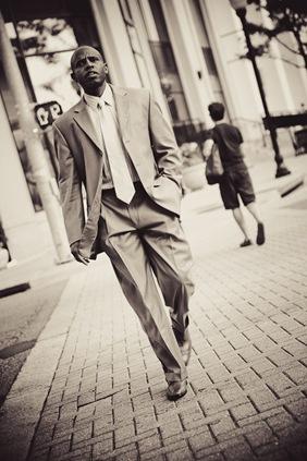 man crossing the street  in arlington va