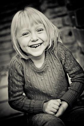 Portrait of girl at Glenview Mansion in Rockville, MD