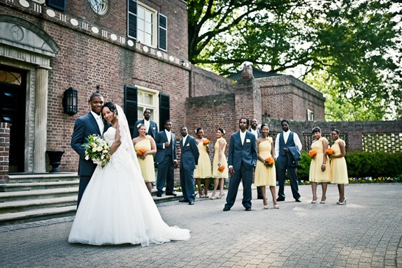 wedding party  at the Newton White Mansion in Mitchellville MD