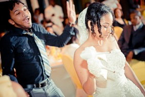 bride dancing during reception at the Newton White Mansion in Mitchellville MD