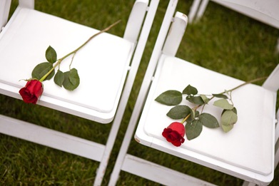 flowers on chair during wedding at Mt. Airy Mansion in Upper Marlboro Maryland