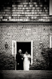 bride walking down isle at Mt. Airy Mansion in Upper Marlboro Maryland