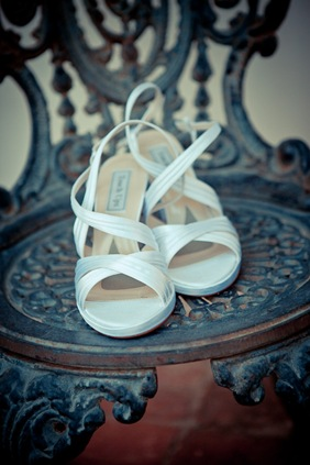 bride's shoes at Mt. Airy Mansion in Upper Marlboro Maryland