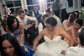bride dancing at Mt. Airy Mansion in Upper Marlboro Maryland