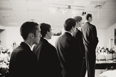 groomsmen at wedding in Mechanicsville MD