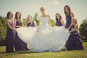 brides wedding party in Mechanicsville MD