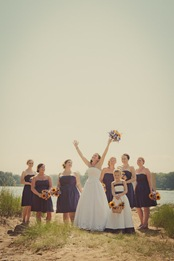 bride and bridesmaids in Annapolis MD