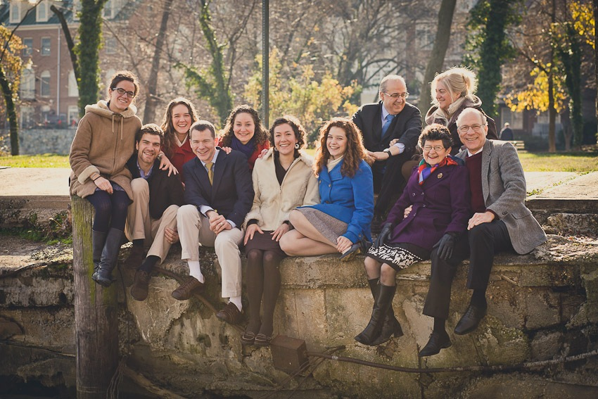 "Portraits of a ""Von Trapp"" Family in Old Town Alexandria"