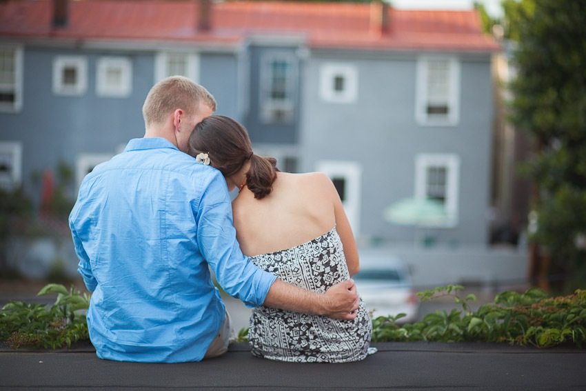 An Annapolis Maryland Rooftop Engagement Session