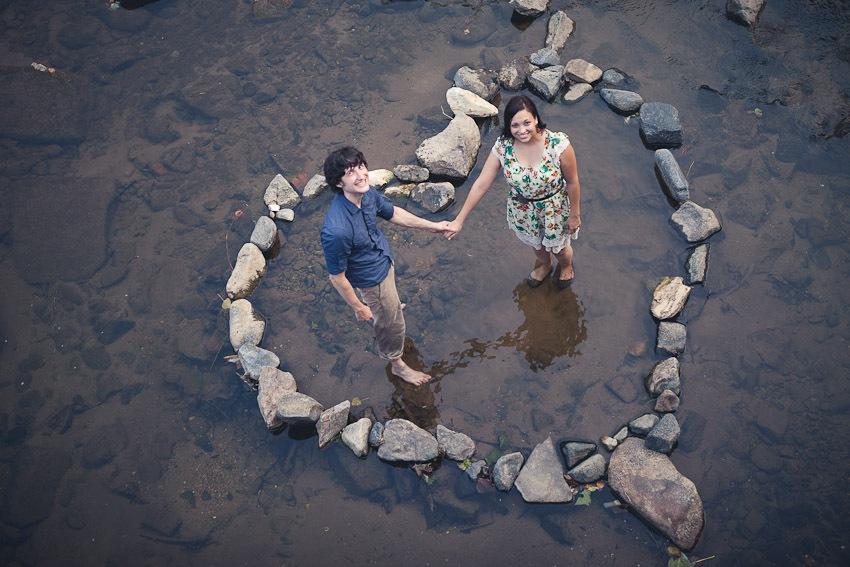 Jenn & Nick's (Wonderfully) Messy Engagement Photos