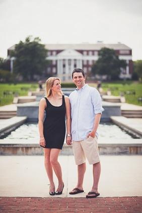 nostalgic engagement photos at the University of Maryland