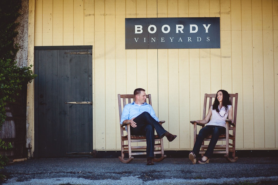 Jeff & Christina's Engagement Session at Boordy Vineyard in Hydes, MD