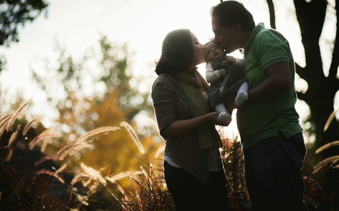 Autumn Family Portraits at McCrillis Gardens in Bethesda Maryland