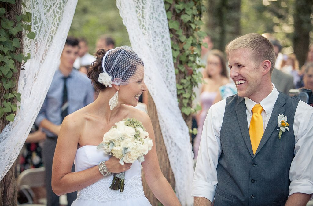 Three things you'll hear us say on your wedding day