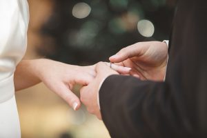 Ring exchange wedding photography