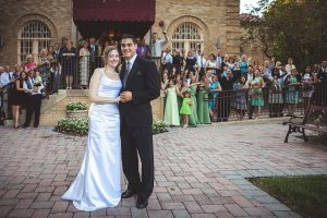wedding-farewell-image-with-all-guests-franciscan-monestary-weshington-dc