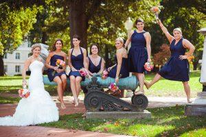 bridesmaids-posing-for-wedding-photo-at-naval-academy