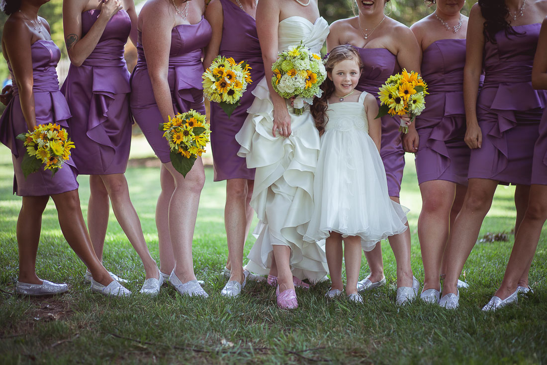 Three ways to maintain simplicity and feel more relaxed on your bridesmaids in flats at wedding ombrellifo Choice Image