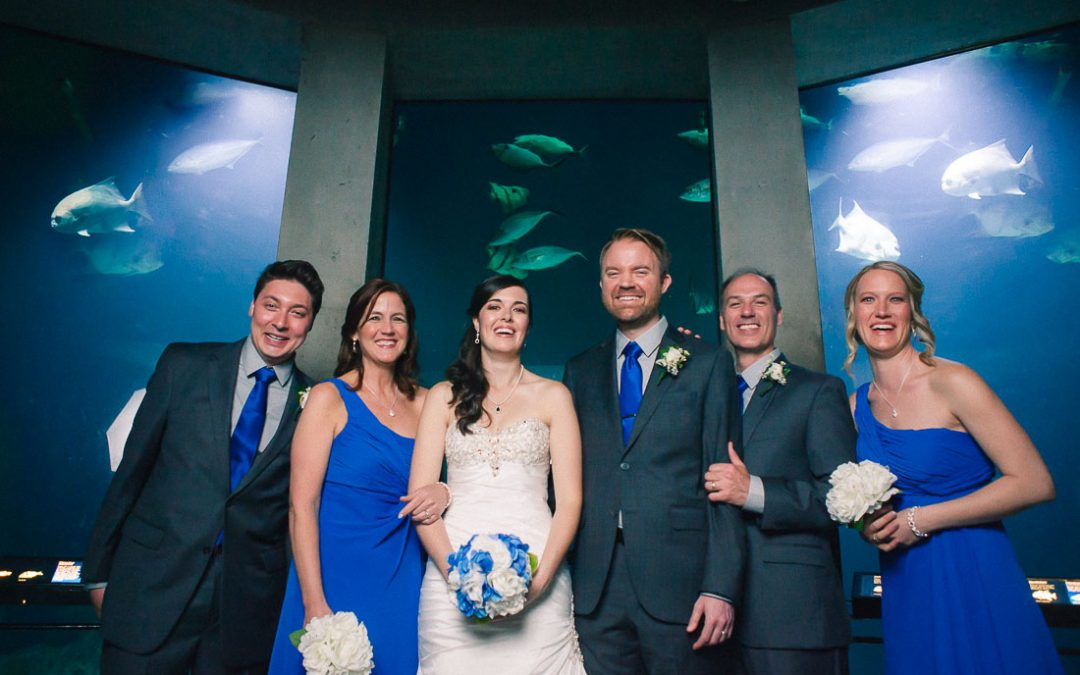 Stephanie & Toren's Wedding at the Baltimore National Aquarium