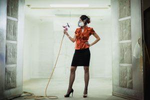 girl with paint gun