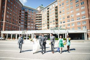 Wedding Party at Johns Hopkins University