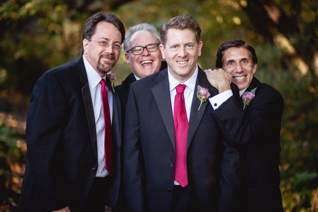 Groomsmen at Meadowlark Botanical Gardens