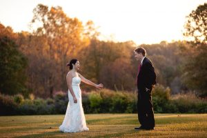 Married Couple at Meadowlark Botanical Gardens