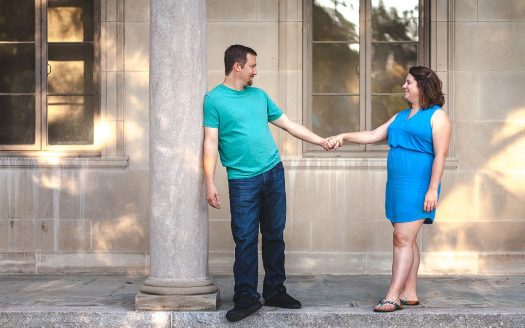 Chris & Lindsay's Engagement Session at Johns Hopkins University in Baltimore