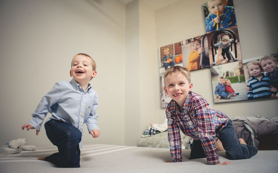 Joe & Melissa's Family Portraits at Home in Washington DC