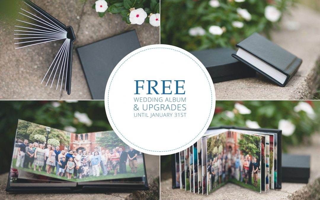 Wedding Album Upgrades Are FREE Until January 31st!