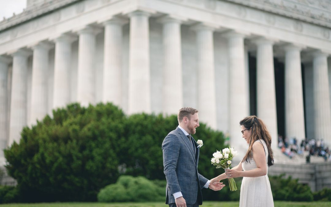 A Beautiful Summer Elopement at the Lincoln Memorial