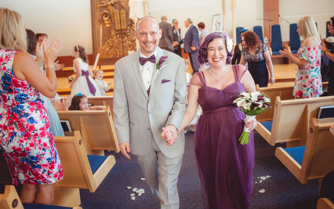 Temple Beth Shalom Wedding Photography in Arnold, MD | Eve & John