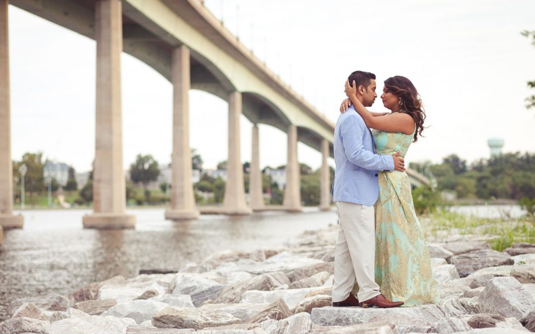 Denis & Nadia's Engagement Session at Jones Point Park in Annapolis