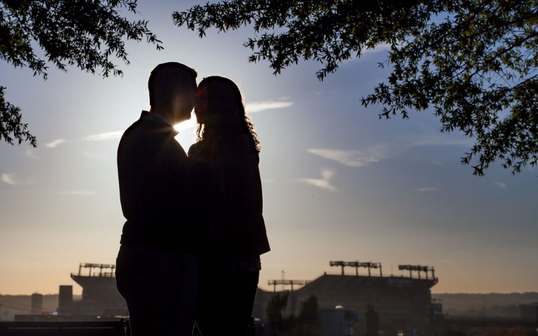 Sunset Engagement Session at Federal Hill Park in Baltimore