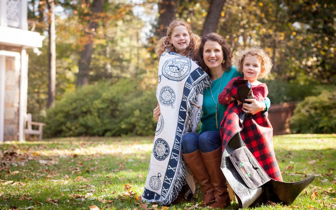 Fashionable Family Portraits in the forests of Bethesda