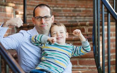 Playful Family Photos at Windmill Hill Park in Old Town Alexandria