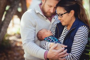A Newborn Family Forest Portrait 03