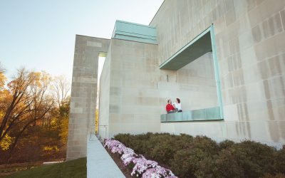Red & White Engagement Session at the John Paul II Shrine in DC