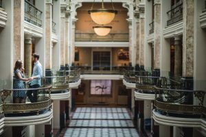An Engagement Session Through the Halls of the National Portraits Gallery 01