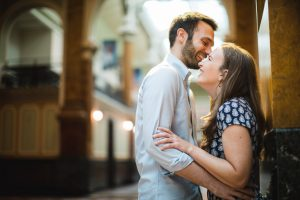 An Engagement Session Through the Halls of the National Portraits Gallery 12