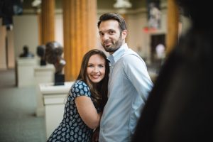 An Engagement Session Through the Halls of the National Portraits Gallery 14