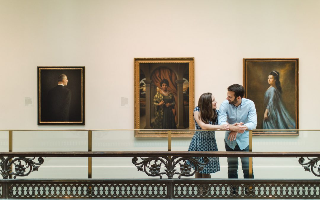 An Engagement Session Through the Halls of the National Portraits Gallery