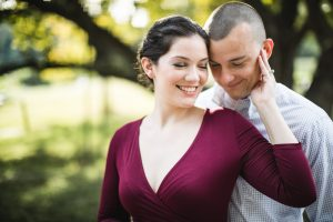 This Couple's Engagement Session in White & Maroon 04