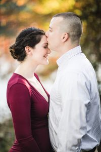 This Couple's Engagement Session in White & Maroon 05