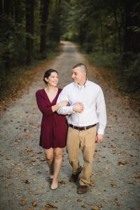 This Couple's Engagement Session in White & Maroon 14