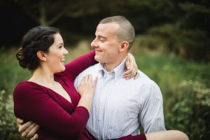 This Couple's Engagement Session in White & Maroon 24