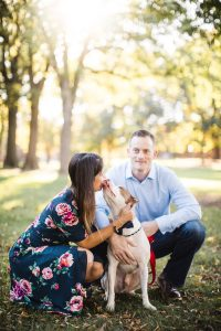 Hand & Hand & Paw Engagement Session on the Streets of Annapolis 03