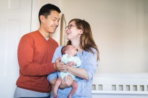 A Portrait Session with a Newborn Family 03
