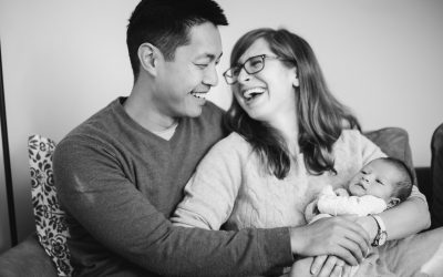 A Portrait Session with a Newborn Family